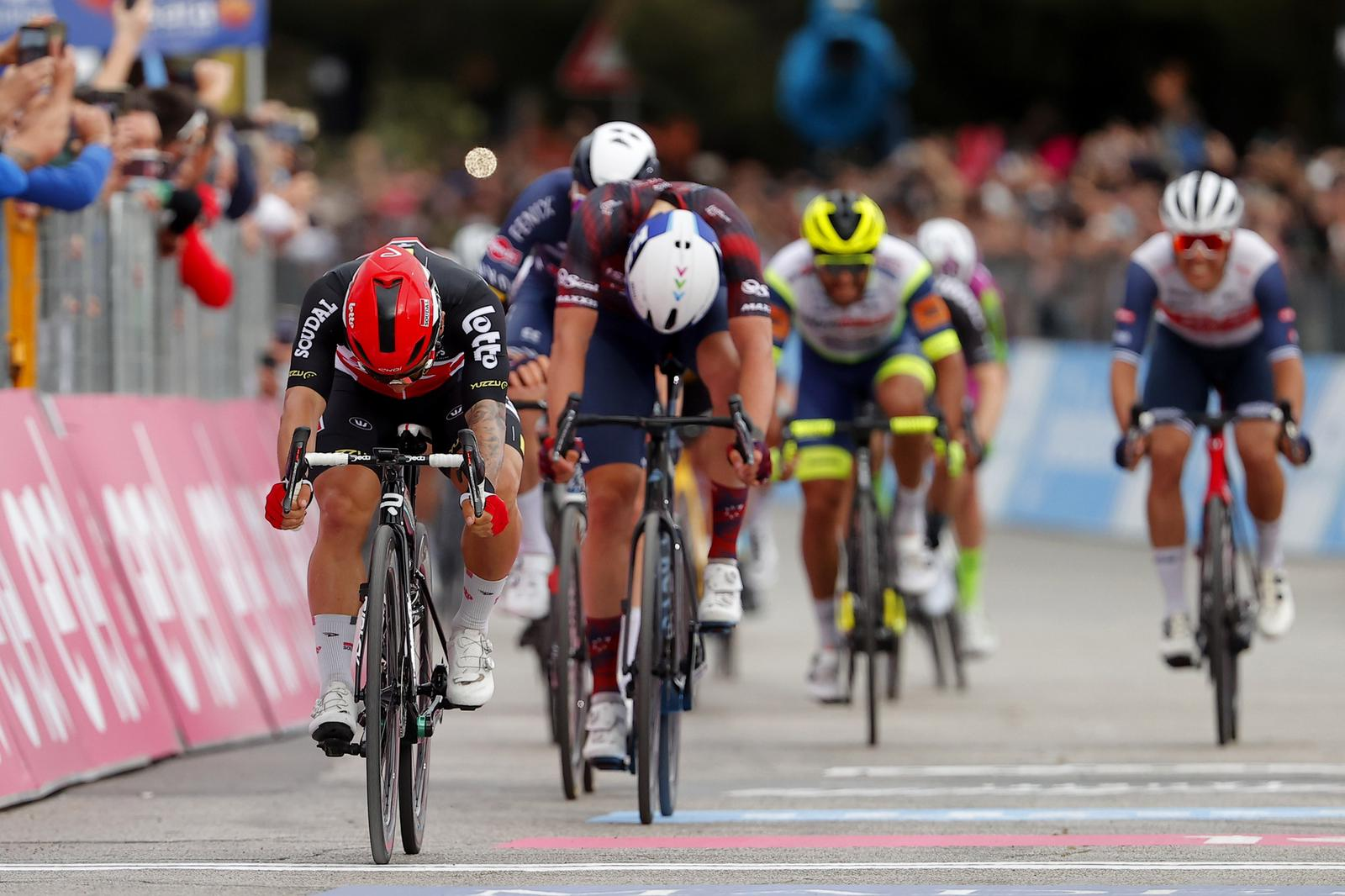 Second place for Cimolai on stage 7 of Giro d'Italia