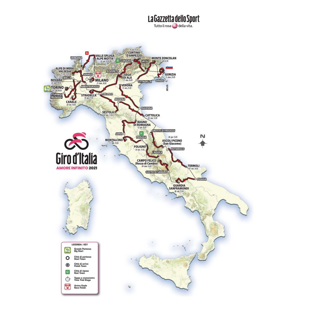 Giro d'Italia: Preview of all the stages