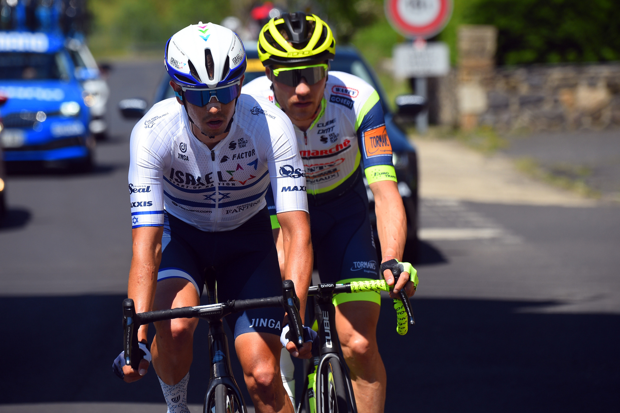 Goldstein in the break on stage 3 of Dauphiné